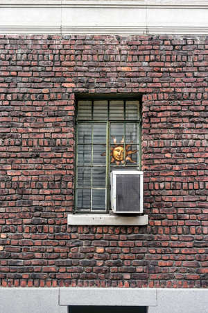 greenwich: Apartment window in Greenwich Village in New York City Stock Photo