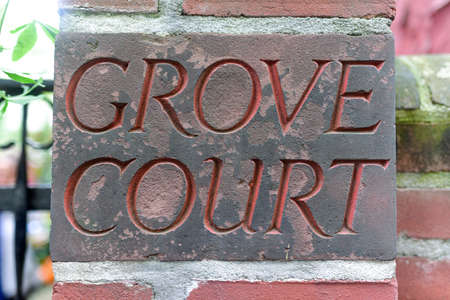 enclave: Grove Court, a private enclave in the Greenwich Village neighborhood of Manhattan, New York City. Stock Photo
