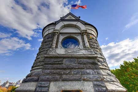 vaux: Belvedere Castle in Central Park, New York City Editorial