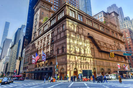 Carnegie Hall in Manhattan, New York City, USA. Carnegie Hall is a concert venue in Midtown Manhattan in New York City
