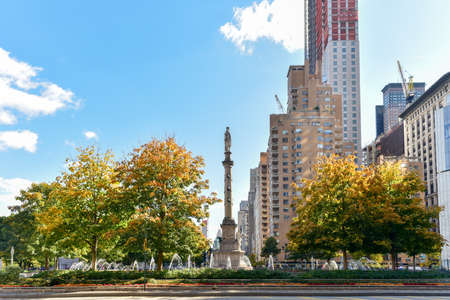 renovated: Columbus Circle in Manhattan which was completed in 1905 and renovated a century later.