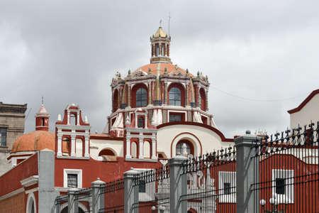 colonial church: The Church of Santo Domingo in Puebla, Mexico.