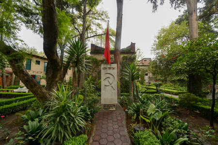 Memorial and Tomb of Leon Trotsky, the Soviet Revolutionary who lived out his life in exile in Mexico until assassination by men sent by Stalin. Editorial