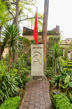 exile: Memorial and Tomb of Leon Trotsky, the Soviet Revolutionary who lived out his life in exile in Mexico until assassination by men sent by Stalin. Editorial