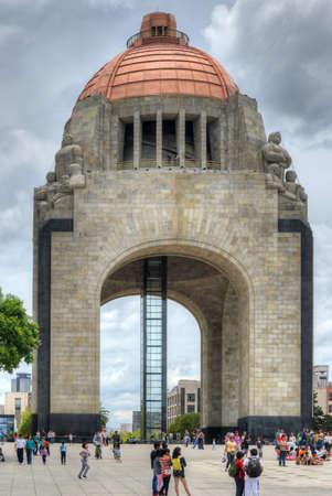 Mexico City, Mexico - July 7, 2013: Monument to the Mexican Revolution (Monumento a la Revolucion Mexicana). Built in Republic Square in Mexico City in 1936. Editorial