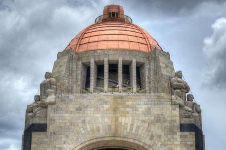 Sculptures of the Monument to the Mexican Revolution (Monumento a la Revolucion Mexicana). Built in Republic Square in Mexico City in 1936. Stock Photo