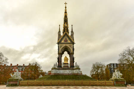 Prince Albert Memorial, Gothic Memorial to Prince Albert in London, United Kingdom.