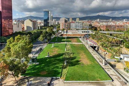 The Parc de Joan Miro in Barcelona, Catalonia, Spain.