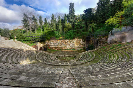 montjuic: Greek Theater built for the 1929 Barcelona International Exposition. This amphitheater was built according to the traditional Greek model in Park de Montjuic.