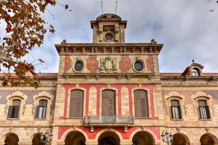 Catalonian parliament building at Parc de la Ciutadella, Barcelona, Catalonia, Spain.