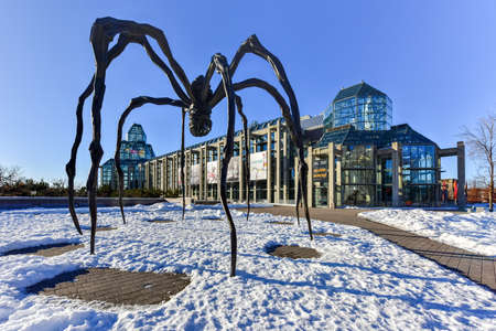 premier: Spider sculpture in front the National Gallery of Canada, located in the capital city Ottawa, Ontario, is one of Canadas premier art galleries. Editorial