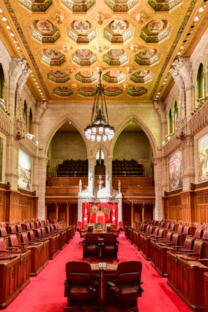 The Senate of Parliament Building, Ottawa, Canada