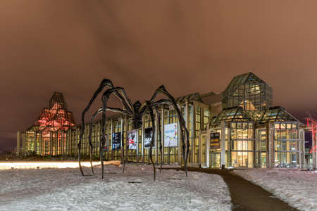 Spider sculpture in front the National Gallery of Canada, located in the capital city Ottawa, Ontario, is one of Canadas premier art galleries. Editorial