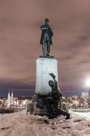 Monument to George Brown, politician and one of the Fathers of Confederation by the Parliament of Canada in Ottawa.