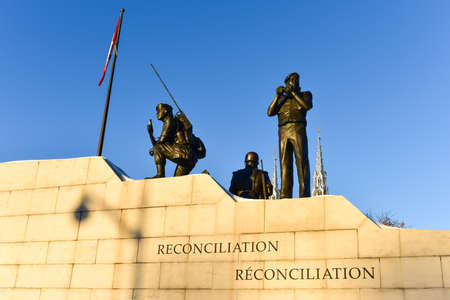 Reconciliation: The Peacekeeping Monument in Ottawa, Canada. Stock Photo