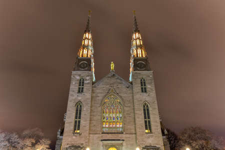 Notre-Dame Cathedral roman catholic Basilica in Ottawa, Canada.