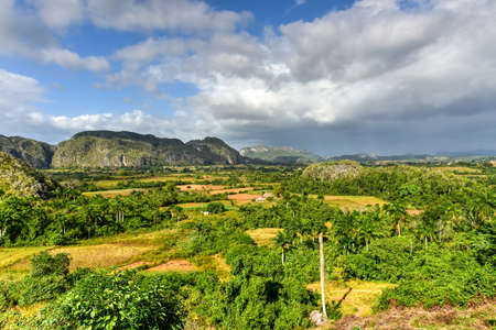 Panorama of Vinales valley, north of Cuba.