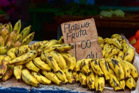 쿠바 올드 하바나에서 과일 스탠드에서 판매 콩.
