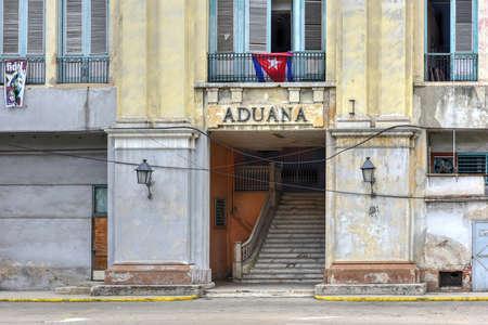 Customs House building in Havana, Cuba. Редакционное