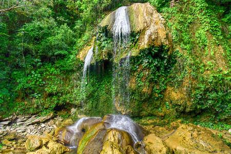 soroa: Soroa Waterfall in Pinar del Rio, Cuba. Stock Photo
