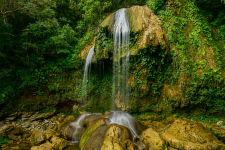 Soroa Waterfall in Pinar del Rio, Cuba. Stock Photo