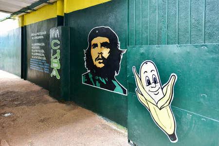 쿠바의 올드 하바나에서 과일 스탠드 입구.