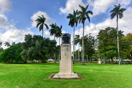 Abraham Lincoln bust in American Fraternity Park in Havana, Cuba.