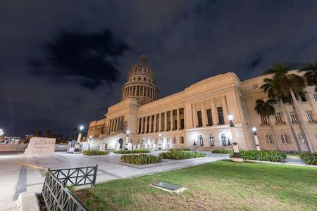 capitolio: National Capital Building (El Capitolio) at dusk in Havana, Cuba.