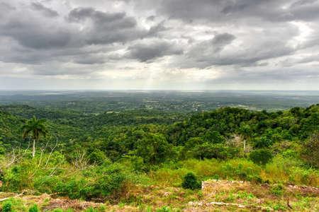 soroa: Panorama over the natural landscape of Soroa, Cuba. Stock Photo