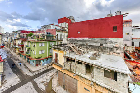 Aerial View of Old Havana, Cuba. Stock Photo