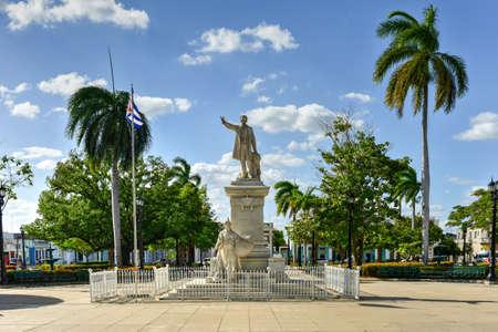 Statue of Jose Marti in the Jose Marti Park, the main square of Cienfuegos (UNESCO World Heritage), Cuba.