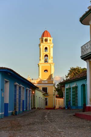 Bell tower of the Convent of San Francisco de Asis in Trinidad, Cuba.