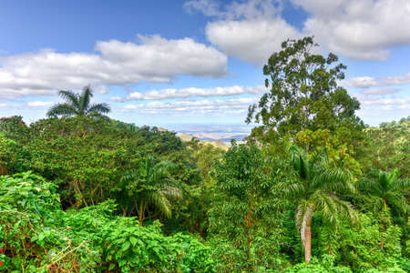 Tropical panoramic landscape across Cienfuegos, Cuba. Stock Photo