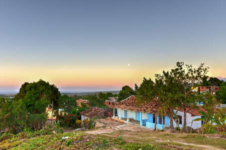 typical: Dawn in the colonial town of Trinidad in Cuba, a UNESCO World Heritage site.
