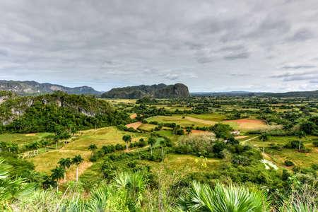 pinar: Panoramic view of Vinales Valley, Cuba. Stock Photo