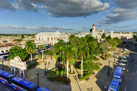renovated: Panoramic view over the city of Cienfuegos, Cuba.