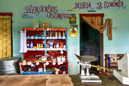 housewares: Store with basic products on its shelves in Casilda, Cuba.