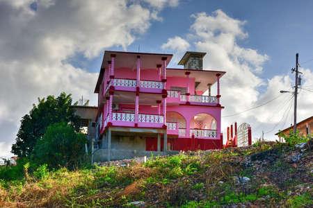 Colorful architecture in La Boca in the in the Sanctus Spiritus Region of Cuba.