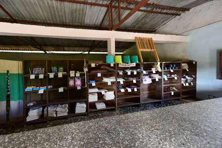 simple store: Crucesitas, Cuba - Jan 13, 2017: Shop in the small town of Crucesitas, Cuba near Cienfuegos. Editorial