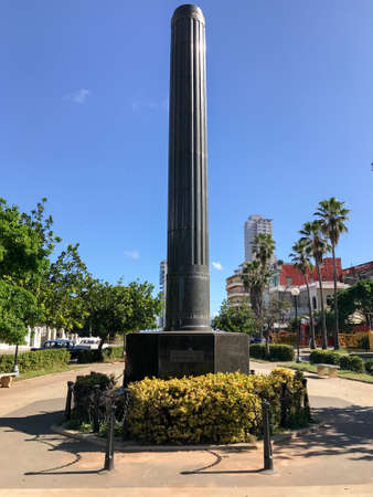 Obelisk of granite monument dedicated to the Chinese who fought for the independence of Cuba.