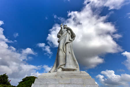 The Christ of Havana, a large sculpture representing Jesus of Nazareth on a hilltop overlooking the bay in Havana, Cuba.