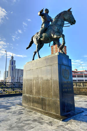 maximo: A statue of Calixto Garcia, a three star general who fought for Cuban independence, stands along the Malecon in Havana, Cuba.