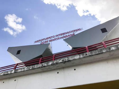 Havana, Cuba - Jan 15, 2017: The Jose Marti International Airport, formerly Rancho Boyeros (HAV), is the main airport in Cuba. and a hub for Cubana (CU).