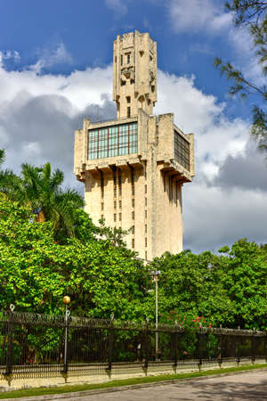 The Embassy of Russia in Havana, Cuba (architect Aleksandr Rochegov) is a striking constructivist building in the Miramar district of the city. Some liken it to a sword, others to a syringe.