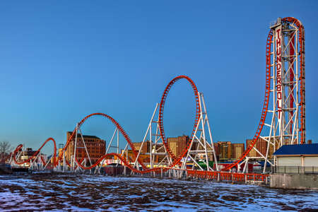 Thunderbolt Rollercoaster in Coney Island, Brooklyn, New York City. Editorial