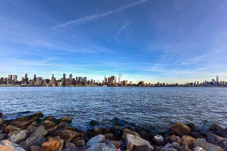 New York City skyline as seen from Weehawken, New Jersey.