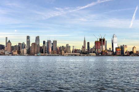 weehawken: New York City skyline as seen from Weehawken, New Jersey.