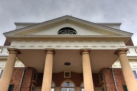 Thomas Jefferson's home, Monticello, in Charlottesville, Virginia. Reklamní fotografie - 77883298