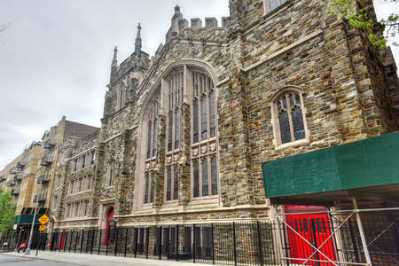Abyssinian Baptist Church, located at 132 West 138th Street between Adam Clayton Powell Jr. Boulevard and Lenox Avenue in the Harlem neighborhood of Manhattan, New York City, built in 1922-23. Imagens