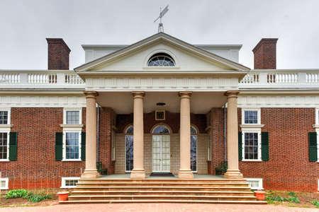 La casa de Thomas Jefferson, Monticello, en Charlottesville, Virginia. Foto de archivo - 77908340
